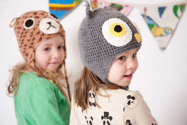 stylish cute warm caps and hats for kids latest winter fashion accessories trend 2017 2018 in Pakistan
