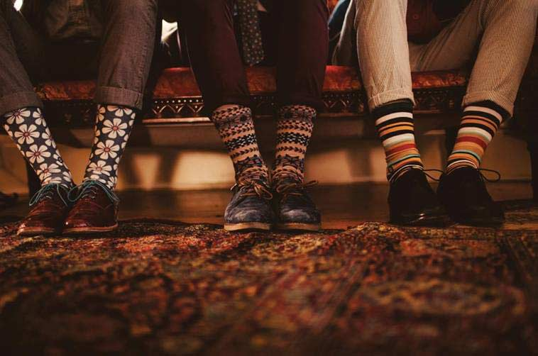 new stripped winter socks for men latest winter fashion accessories trend 2017 2018 in Pakistan