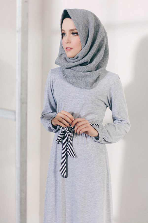 awesome grey arabian and pakistani hijab styles trend 2017 2018