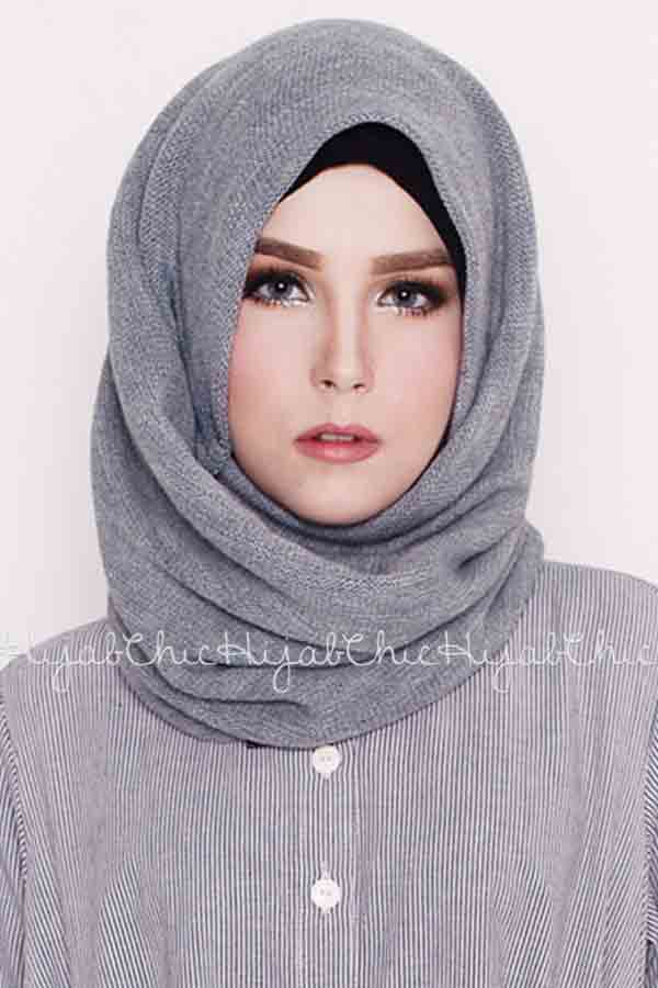 trendy grey arabian and pakistani hijab styles trend 2017 2018