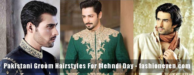 Pakistani Mehndi Hairstyles 2017 For Groom