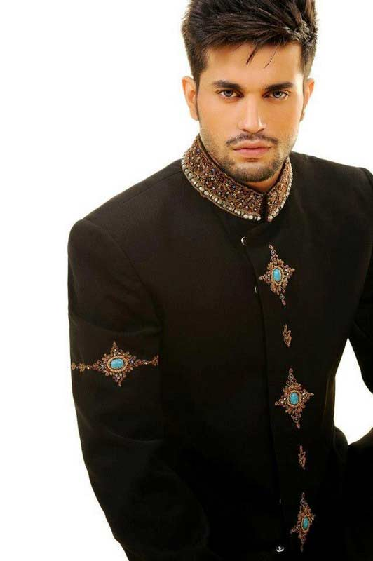 latest pakistani men spiky medium hairstyles 2017 for mehndi function