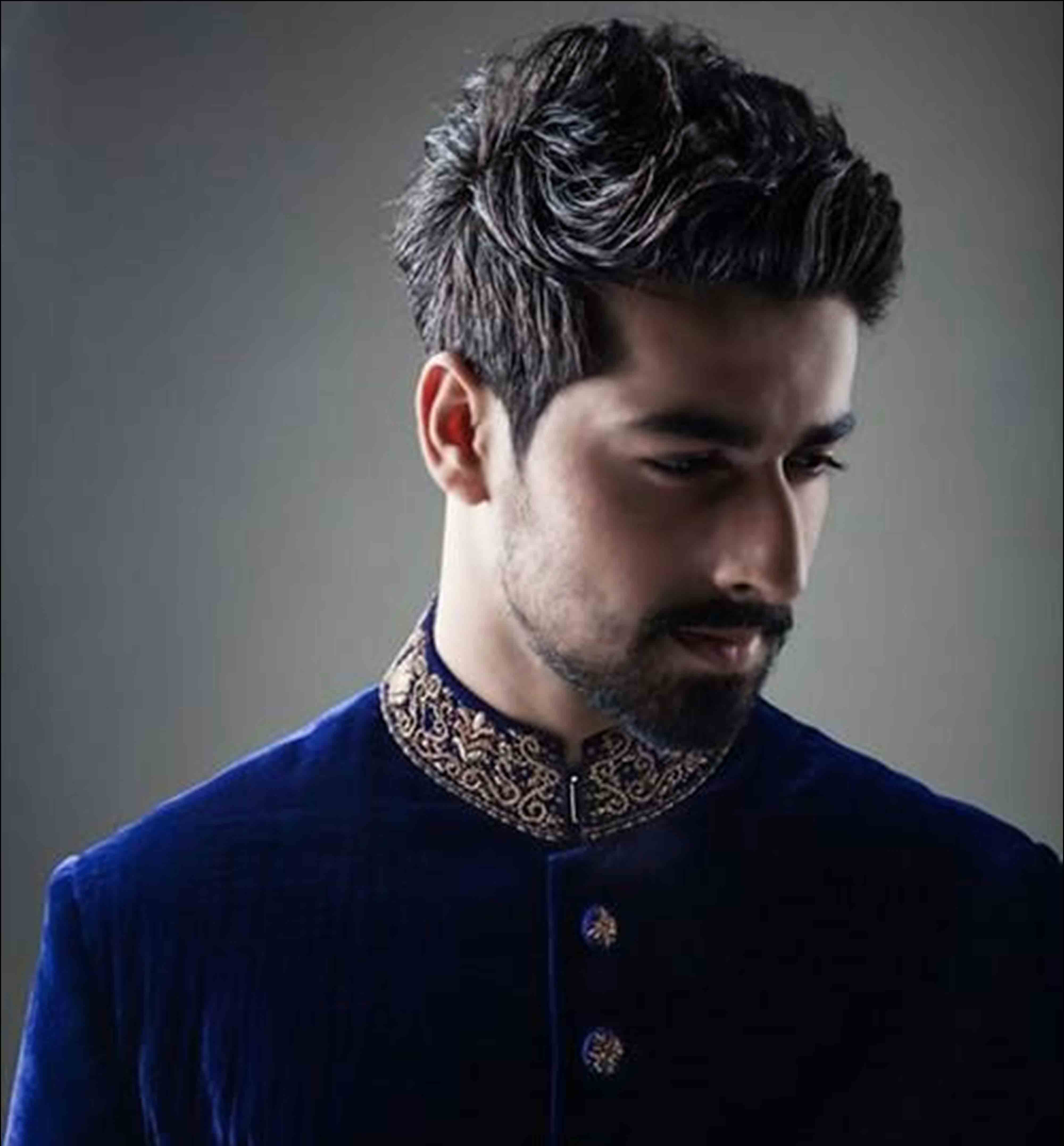 best pakistani men spiky hairstyles 2017 for mehndi function