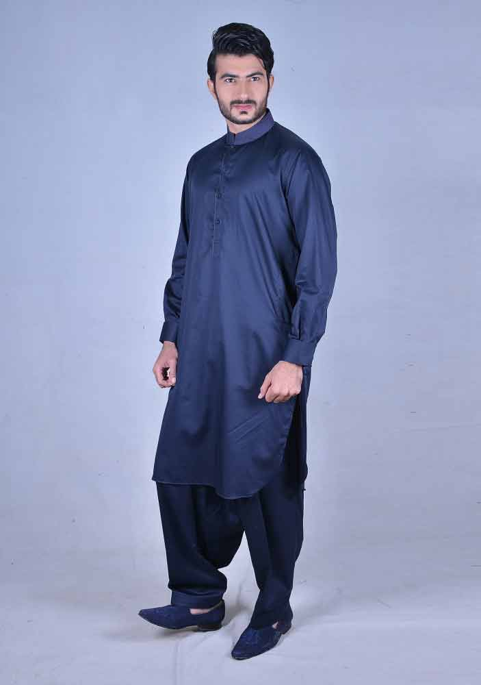 stylish royal blue best pakistani men kurta shalwar kameez designs 2017