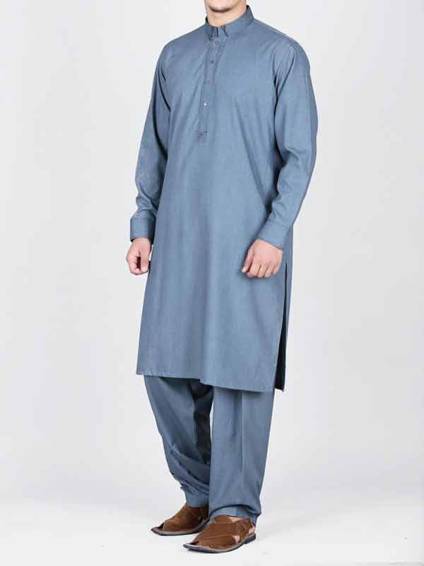 latest light blue best pakistani men kurta shalwar kameez designs 2017 with same light blue shalwar