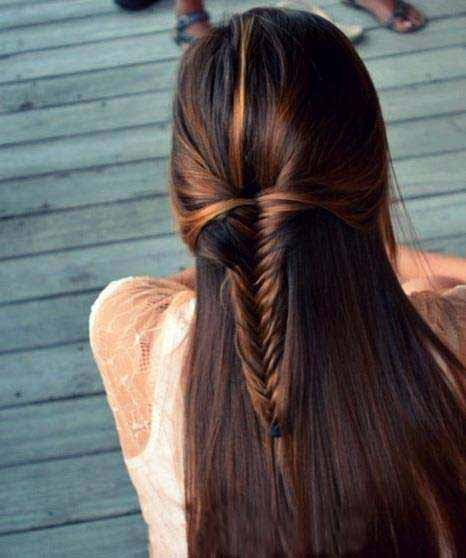 super trendy simple and easy fishtail braid for medium hair length eid hairstyles 2017 for pakistani girls