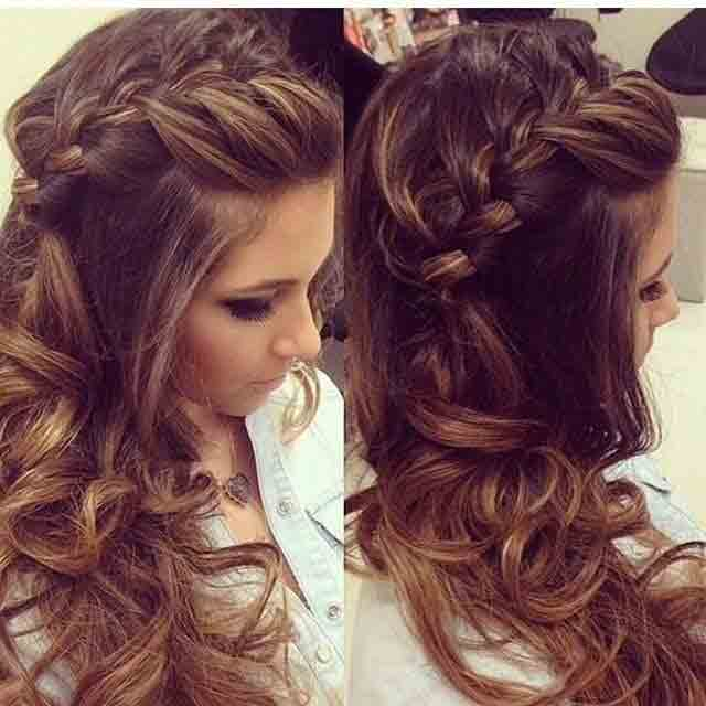 best twisted and braided hairstyle with curls for medium hairstyle eid hairstyles 2017 for pakistani girls