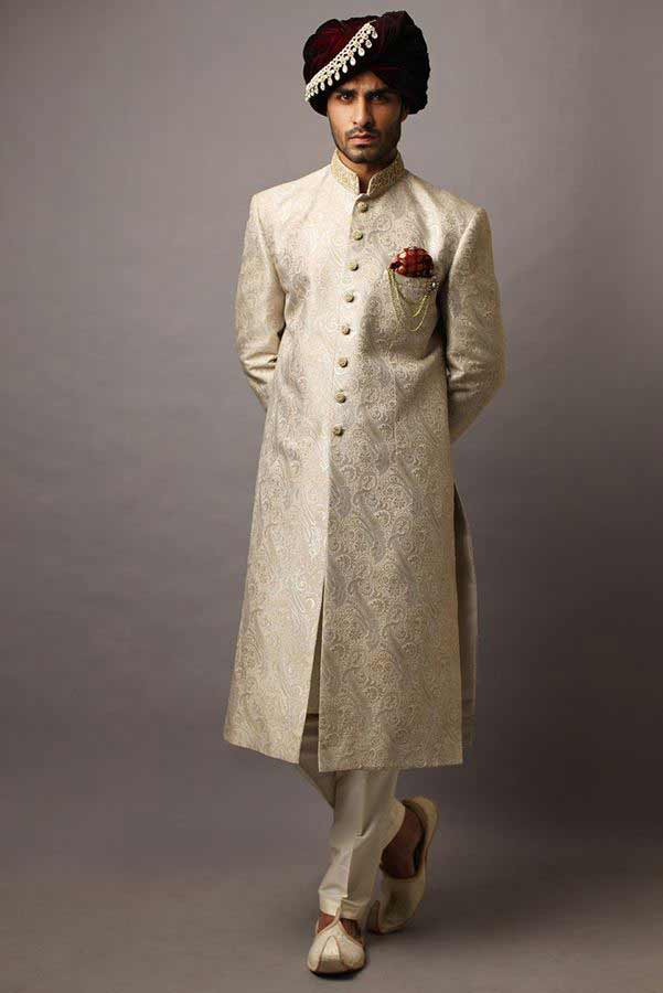 best pakistani mens wedding sherwani barat dresses 2017 with turban