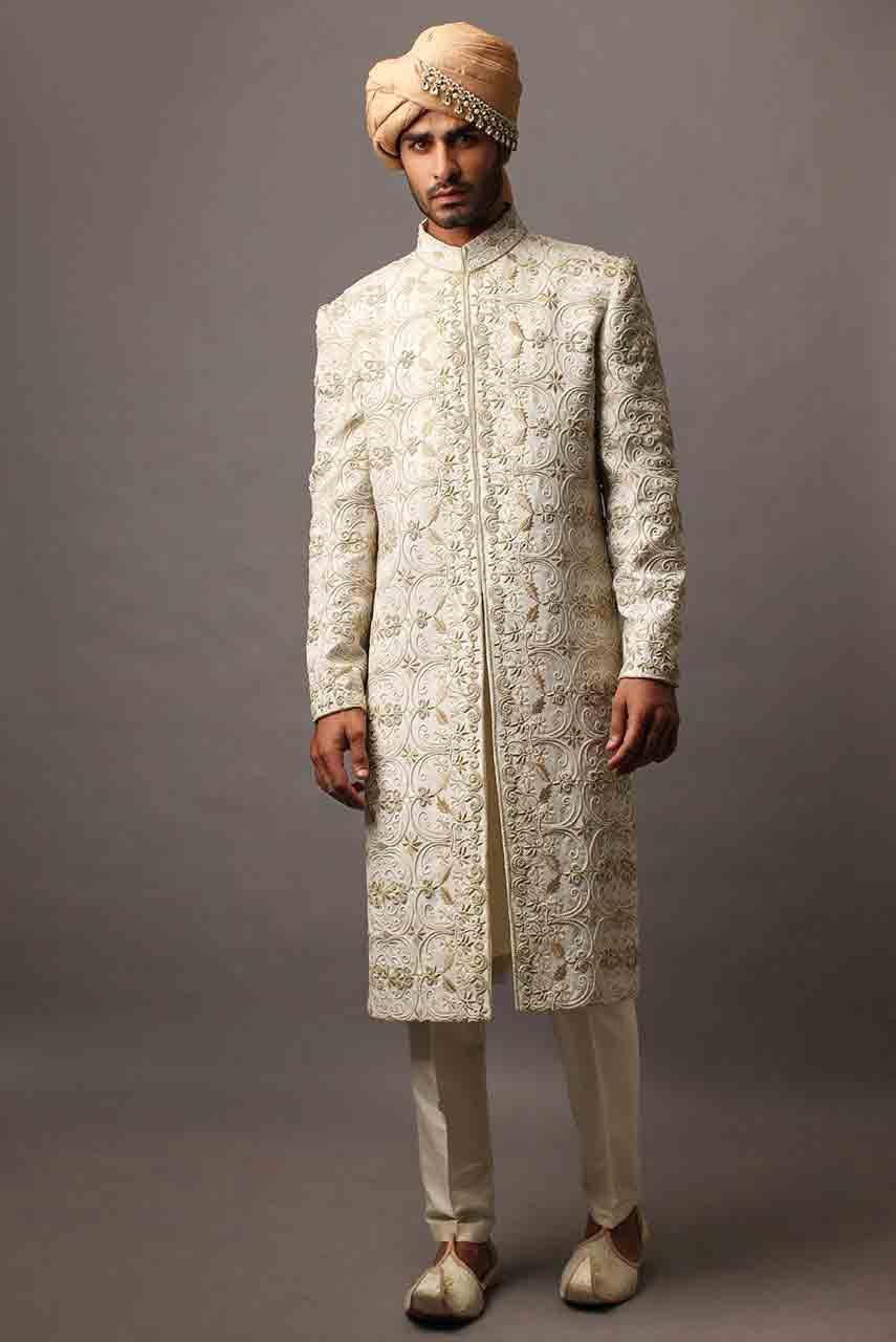new stylish pakistani mens wedding sherwani barat dresses 2017 off white wedding sherwani with turban
