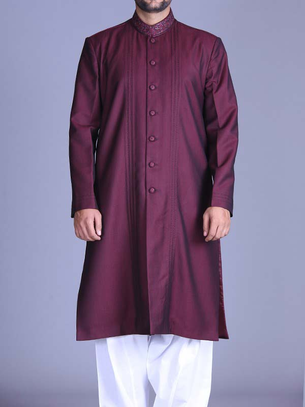 new magenta best pakistani men kurta shalwar kameez designs 2017 with white shalwar