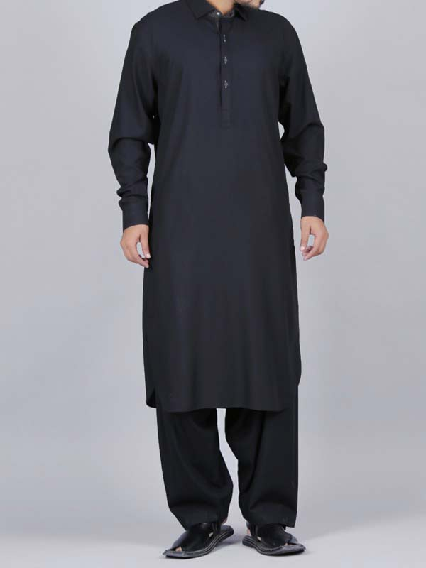 trendy black best pakistani men kurta shalwar kameez designs 2017