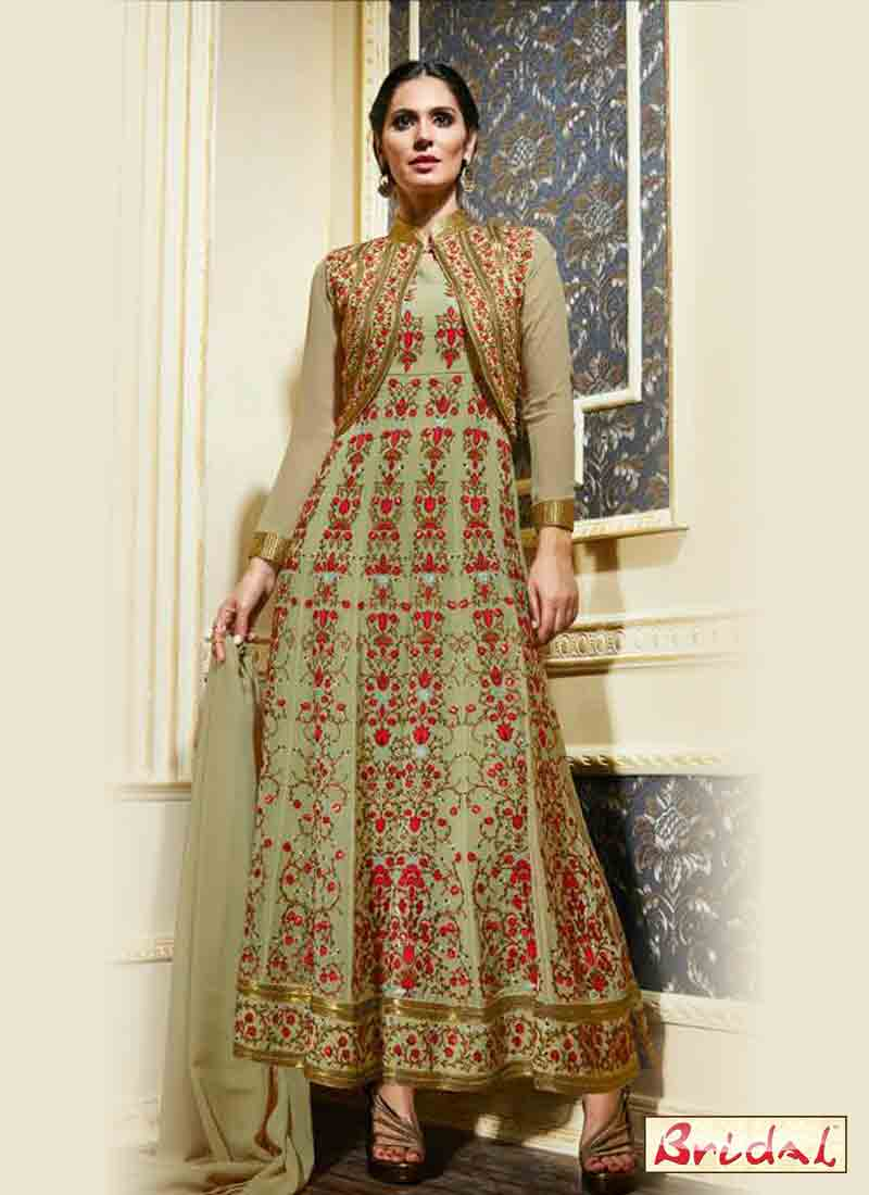 new latest indian anarkali frocks and salwar suit dress designs 2017 for wedding party