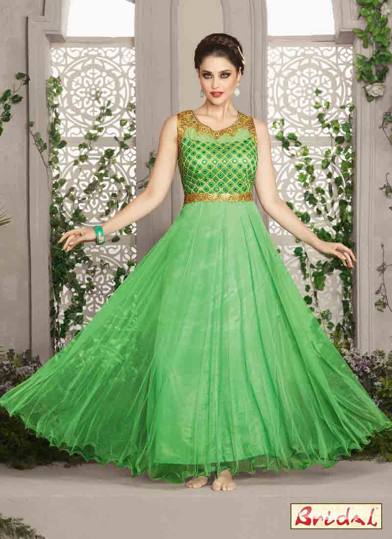 best mint green latest indian anarkali frocks and salwar suit dress designs 2017 floor length frock for wedding party