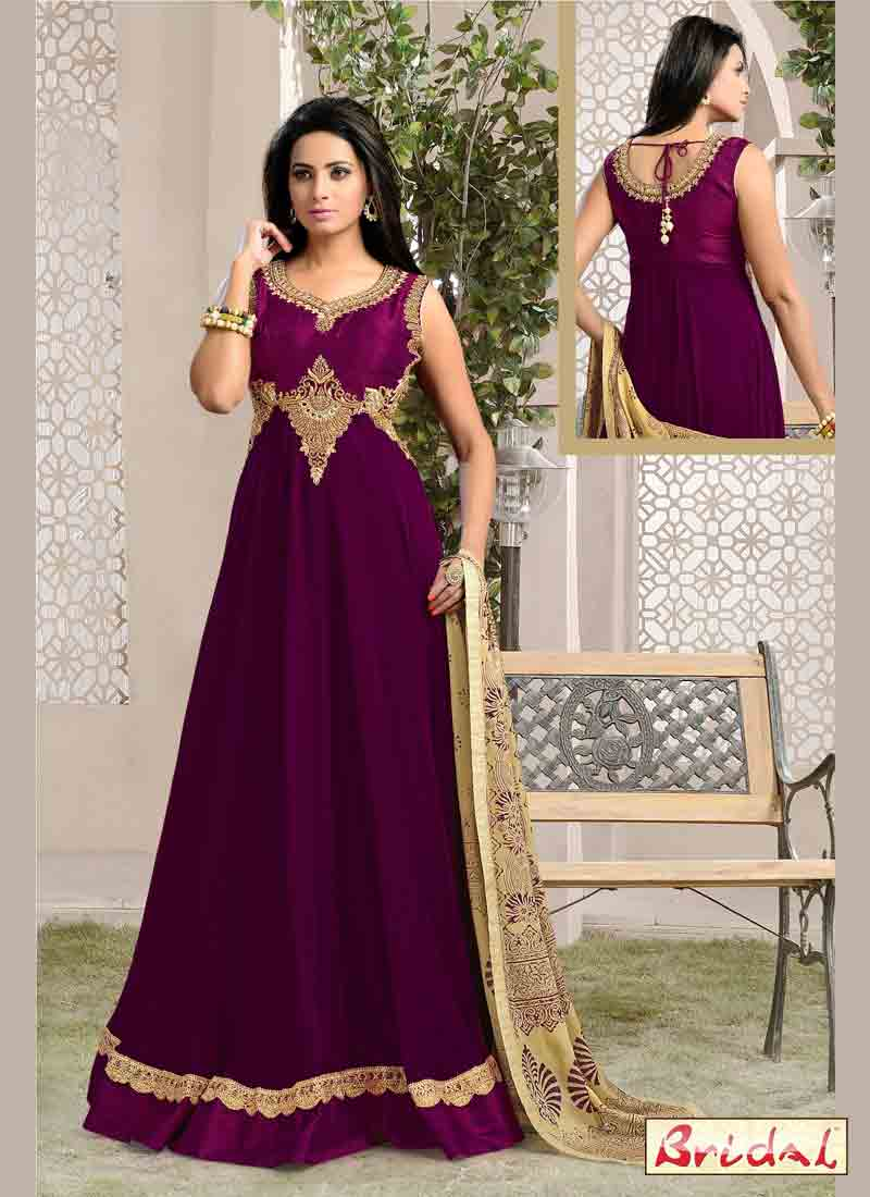 best magenta latest indian anarkali frocks and salwar suit dress designs 2017