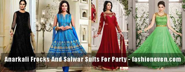 Easy Hairstyle For Salwar Suit : Indian anarkali suits 2017 party salwar kameez fashioneven