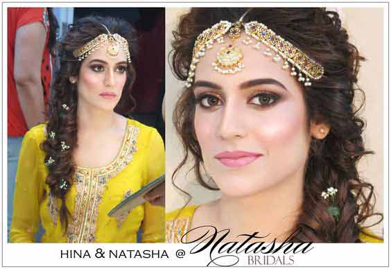 best matha patti or maang tikka hairstyles for party 2017 with braid for mehndi party night