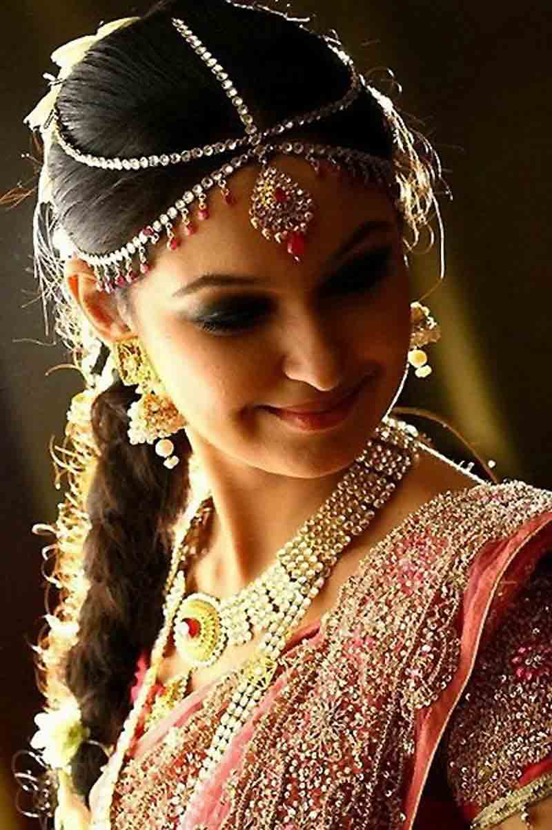 traditional best matha patti or maang tikka hairstyles for party 2017 with braided hair