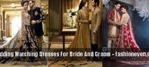 trendy and classy latest indian and pakistani wedding matching dress combinations for bride and groom 2017