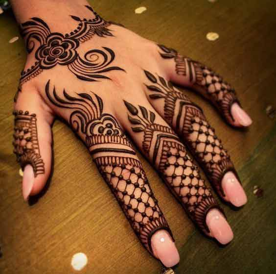 latest indo arabic mehndi latest finger mehndi designs 2017 new styles for hands