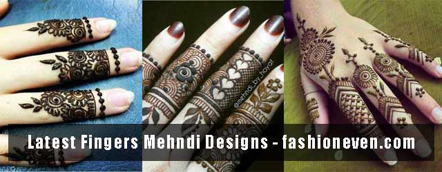Latest Fingers Mehndi Designs 2017 For Hands