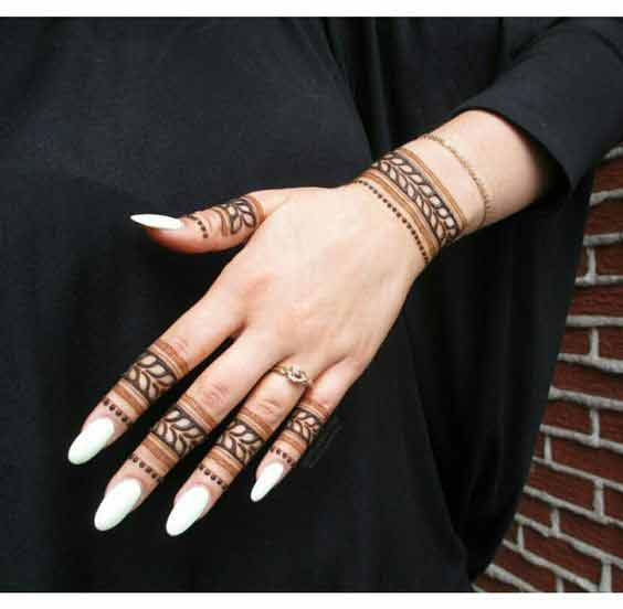 Mehndi Design With Fingers : Latest fingers mehndi designs for hands fashioneven