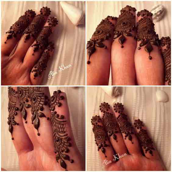 Best Indian finger mehndi designs for hands latest finger mehndi designs 2017 new styles for hands