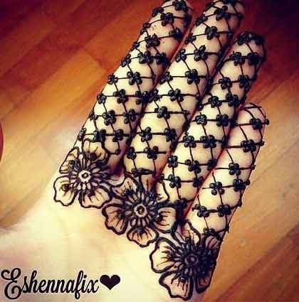 new style of square and flower mehndi designs easy and simple latest finger mehndi designs 2017 new styles for hands