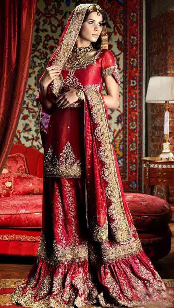 latest style of best bridal dupatta setting styles 2017