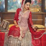 Amazing bridal dupatta style one sided best bridal dupatta setting styles 2017
