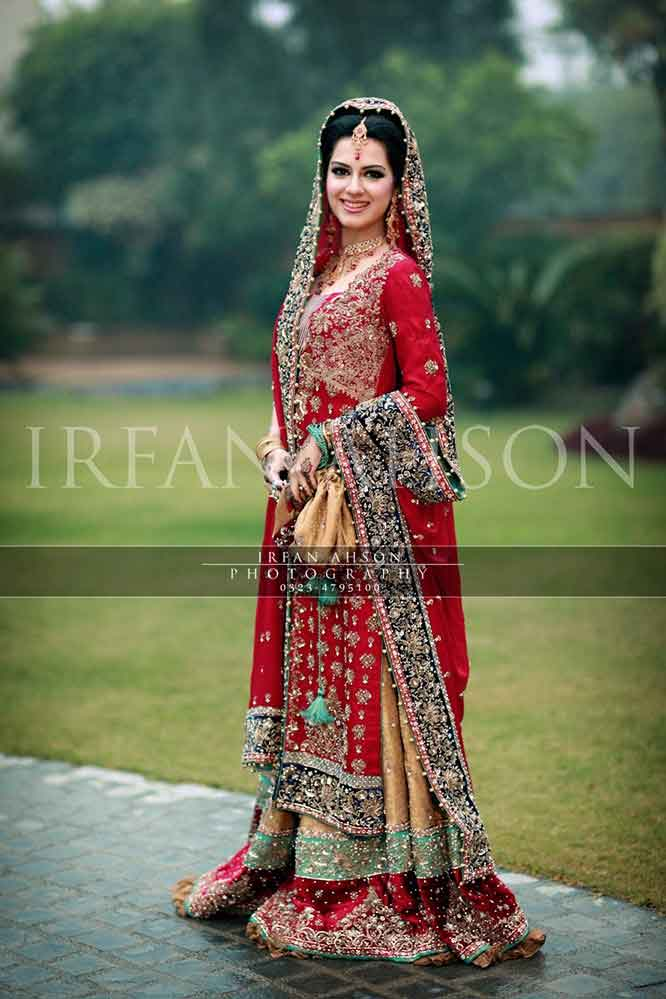 Latest Pakistani dupatta style best bridal dupatta setting styles 2017