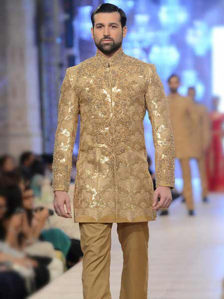 Best embroidered cream off white short sherwani new short sherwani styles 2017 sherwani for men in pakistan