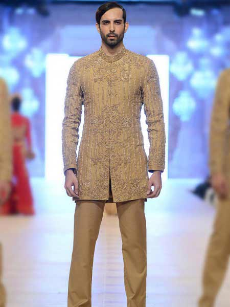 Latest cream off white short sherwani style new short sherwani styles 2017 sherwani for men in pakistan