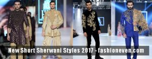 Latest black golden cream off white navy blue and magenta new short sherwani styles 2017 sherwani for men in pakistan