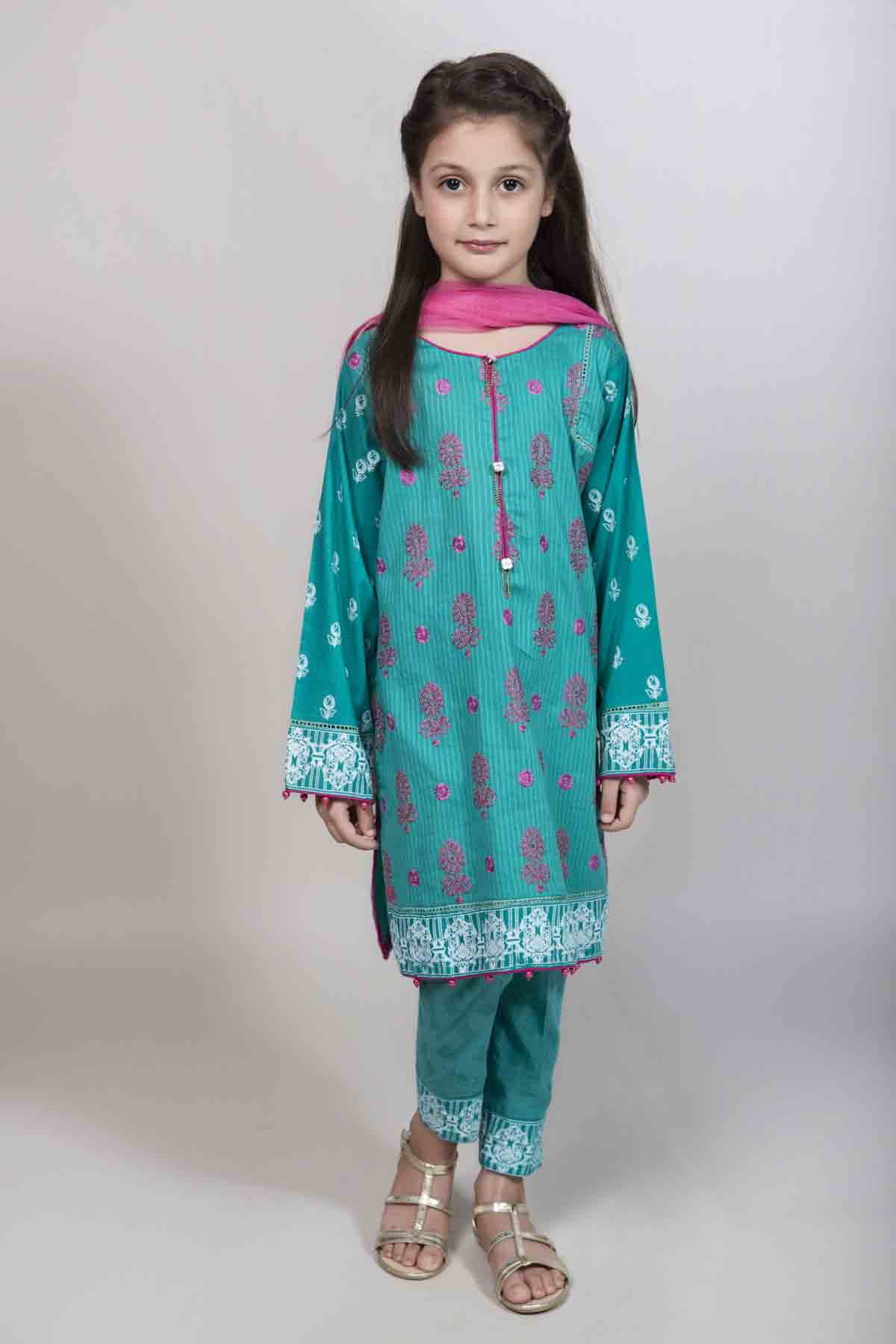 816030353bf New blue and pink kameez kurti for Pakistani girls Mariab kids party dresses  2017 for wedding