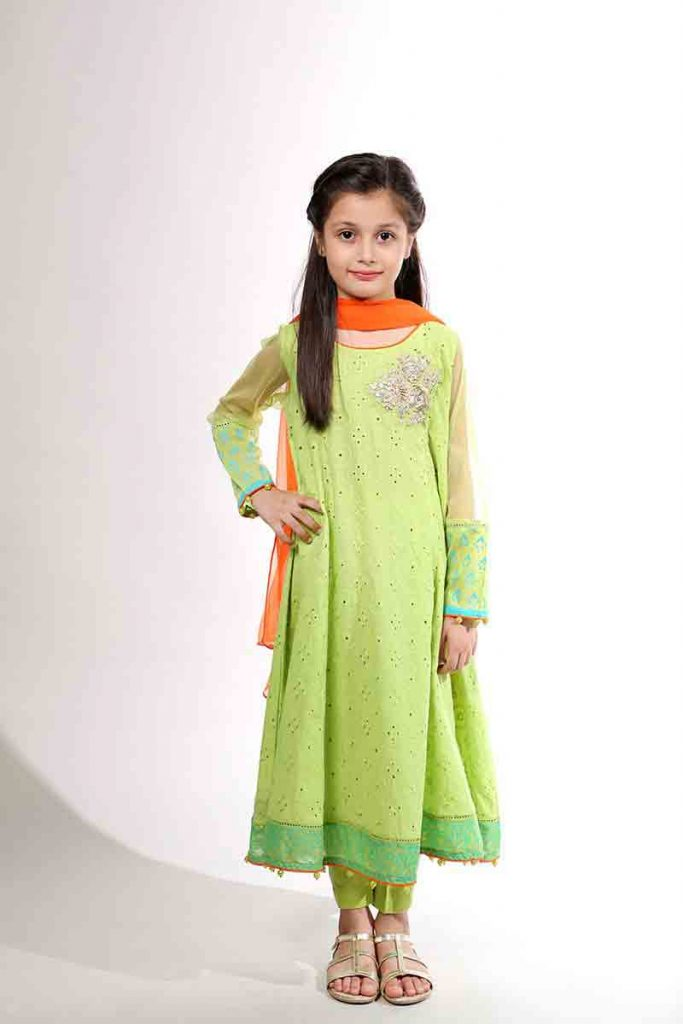 Mariab Kids Little Girl Partywear Dresses 5 Fashioneven