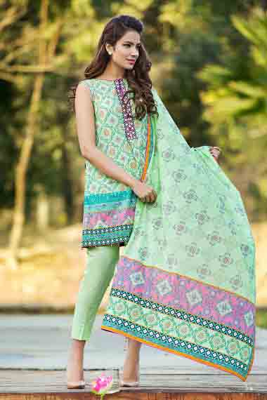 new alkaram ferozi short shirt with matching dupatta new summer lawn dresses 2017 for Pakistani girls