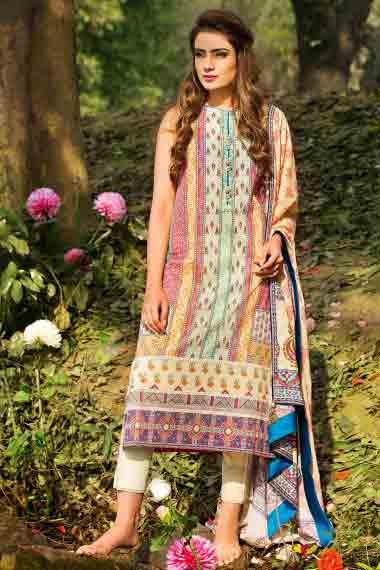 alkaram latest long shirtwith white pajama new summer lawn dresses 2017 for Pakistani girls