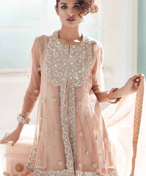 latest short frock style in Pakistan girls net dresses 2017 pakistani party dresses with price