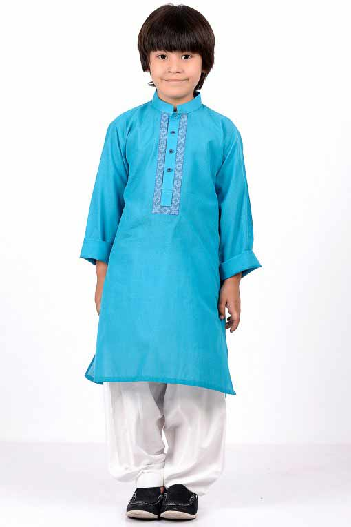 new blue kurta with white shalwar latest little boys kurta shalwar kameez designs 2017 for summer in Pakistan