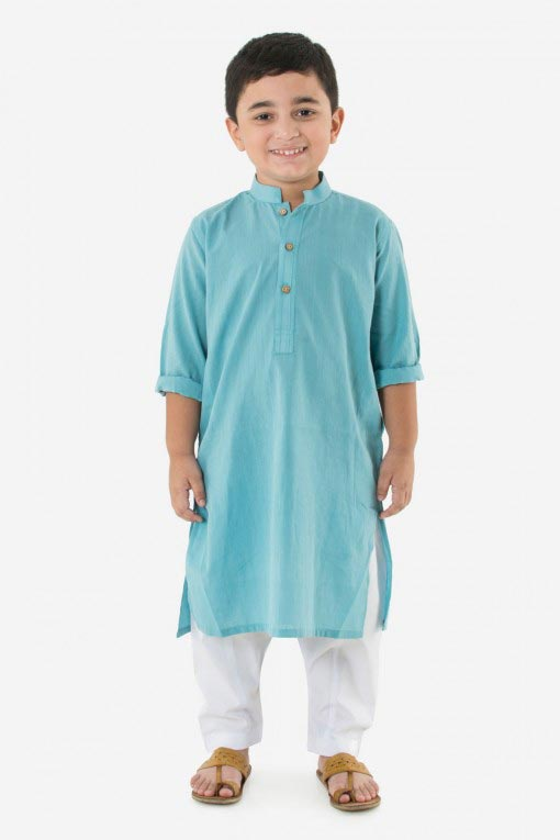 light blue kurta with white pajama latest little boys kurta shalwar kameez designs 2017 for summer in Pakistan