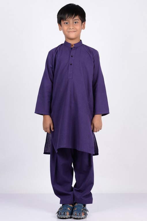 blue latest little boys kurta shalwar kameez designs 2017 for summer in Pakistan