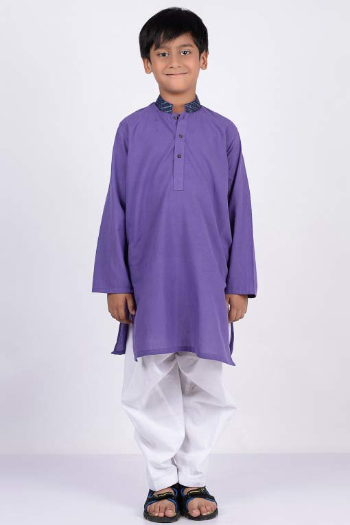 blue kurta with white shalwar latest little boys kurta shalwar kameez designs 2017 for summer in Pakistan