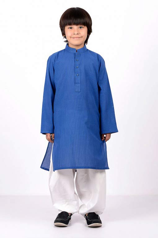 New blue kameez with white shalwar latest little boys kurta shalwar kameez designs 2017 for summer in Pakistan