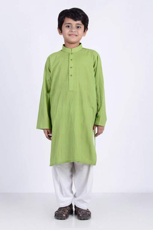 best light green parrot color kurta kameez with white shalwar latest little boys kurta shalwar kameez designs 2017 for summer in Pakistan
