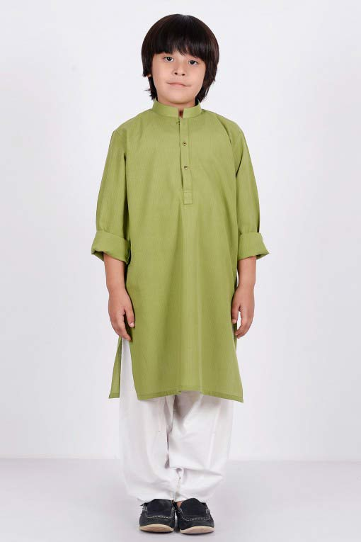 best light green kurta with white shalwar latest little boys kurta shalwar kameez designs 2017 for summer in Pakistan