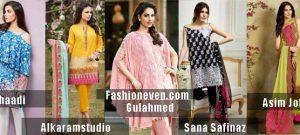 latest designers khaadi sanasafinaz alkaramstudio gulahmed and asim jofa new summer lawn dresses 2017 for Pakistani girls