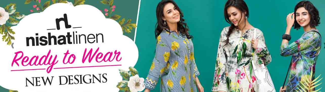 latest nishat linen eid dresses 2017 for girls in Pakistan