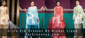 Latest girls eid dresses 2017 in Pakistan by Nishat Linen