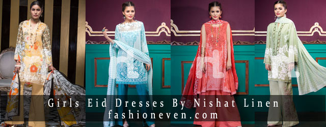 New Nishat Linen Eid Dresses For Girls In 2019