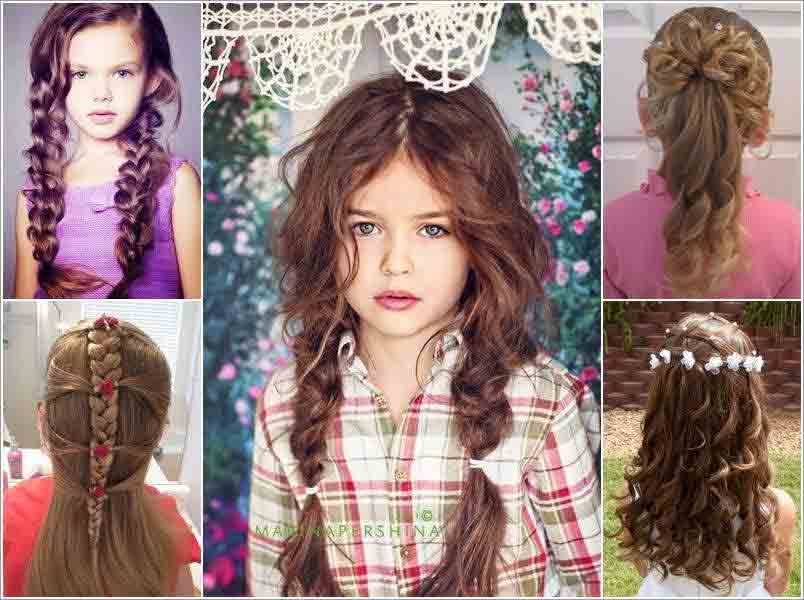 Cute Hairstyles For Short Long Medium Hair Length Little Girls Eid Party 2017